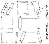vector set of sketch scrolls | Shutterstock .eps vector #339694145