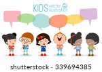 Cute Kids With Speech Bubbles ...