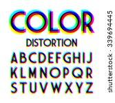 color distortion alphabet.... | Shutterstock .eps vector #339694445