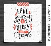 christmas typographic design... | Shutterstock .eps vector #339695441