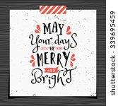 christmas typographic design... | Shutterstock .eps vector #339695459