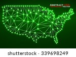 abstract polygonal  map usa... | Shutterstock .eps vector #339698249