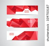 set of vector abstract red... | Shutterstock .eps vector #339703187
