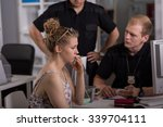 young policeman questioning...   Shutterstock . vector #339704111