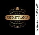 pennsylvania usa state.vintage... | Shutterstock .eps vector #339706427