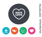 safe love sign icon. safe sex... | Shutterstock .eps vector #339709754