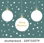 white christmas  baubles... | Shutterstock .eps vector #339710579