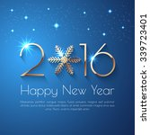 happy new year 2016 text design.... | Shutterstock .eps vector #339723401