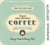 retro vintage coffee background ... | Shutterstock .eps vector #339726779