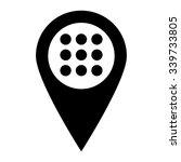 menu   map pointer vector icon