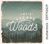 hand drawn wilderness ... | Shutterstock .eps vector #339742619