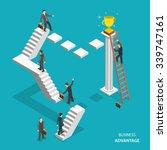 business advantage isometric... | Shutterstock .eps vector #339747161