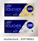 luxury gold vip club gift card... | Shutterstock .eps vector #339748061