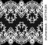 black damask vintage floral...   Shutterstock .eps vector #339754184