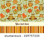 cute vector seamless baby... | Shutterstock .eps vector #339757235