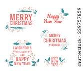 set of christmas postcard... | Shutterstock .eps vector #339757859