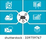 concept of cloud computing... | Shutterstock .eps vector #339759767