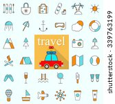 line icons with flat design... | Shutterstock .eps vector #339763199