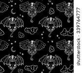 black white cartoon pattern... | Shutterstock .eps vector #339764777