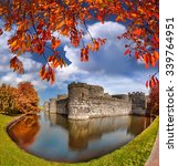 famous beaumaris castle in...