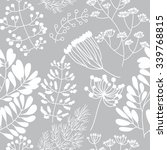 seamless pattern with floral... | Shutterstock .eps vector #339768815