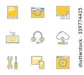set of thin line technology... | Shutterstock .eps vector #339774425