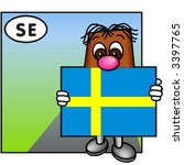 funny guy carrying the swedish... | Shutterstock .eps vector #3397765