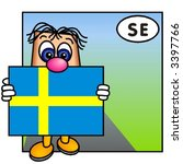 funny guy carrying the swedish... | Shutterstock .eps vector #3397766