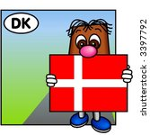 funny guy carrying the danish... | Shutterstock .eps vector #3397792