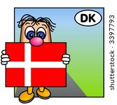 funny guy carrying the danish... | Shutterstock .eps vector #3397793