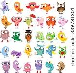 set of vector cartoon birds | Shutterstock .eps vector #339781301