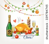 christmas new year romantic... | Shutterstock .eps vector #339784745