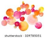 abstract trendy watercolor hand ... | Shutterstock . vector #339785051