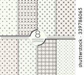 seamless pattern. set of eight... | Shutterstock .eps vector #339786065