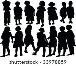 collection of kids silhouette   ... | Shutterstock .eps vector #33978859