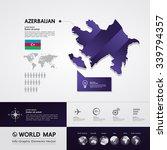 azerbaijan map | Shutterstock .eps vector #339794357