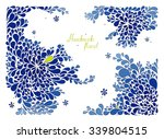 handmade rectangular floral... | Shutterstock .eps vector #339804515