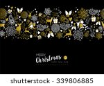 merry christmas happy new year... | Shutterstock .eps vector #339806885