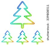 rainbow line pine tree logo...