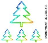 rainbow line pine tree logo...