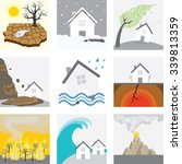 natural disaster    drought ... | Shutterstock .eps vector #339813359