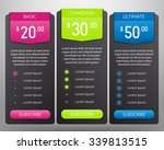 pricing tables vector mock up...