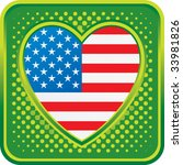 american heart on glossy web... | Shutterstock .eps vector #33981826