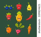 cheerful fruit and vegetables.... | Shutterstock .eps vector #339824621