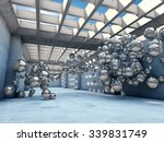 long concrete tunnel with... | Shutterstock . vector #339831749
