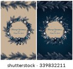 christmas wreath with... | Shutterstock .eps vector #339832211