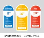 vector pricing table for... | Shutterstock .eps vector #339834911