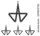 black line research symbol logo ...