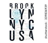 athletic sport new york... | Shutterstock .eps vector #339836939