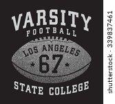sport baseball typography  t... | Shutterstock .eps vector #339837461